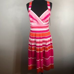 NWT dana Buchman Colorblock Dress Size Medium